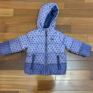 Toddler girl warm puffer winter jacket size 3T